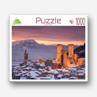 Il puzzle del borgo di pacentro in abruzzo