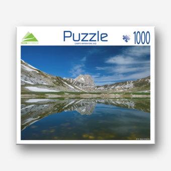 Il puzzle di Campo Imperatore con il Gran Sasso d'Italia