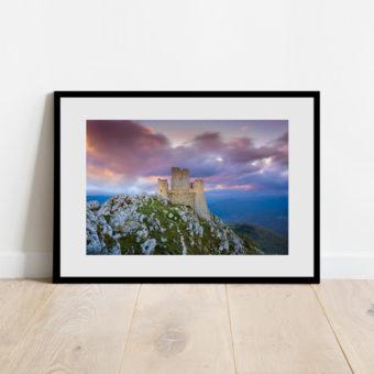 Stampa del Castello di Rocca Calascio, Abruzzo